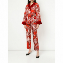 F.r.s For Restless Sleepers Calça Cropped Floral - Vermelho