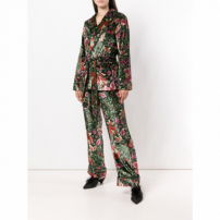F.r.s For Restless Sleepers Calça De Veludo Floral - Green