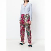 F.r.s For Restless Sleepers Calça Flare Floral - Rosa