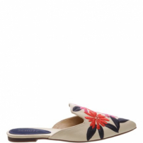 Flat Mule Bordado Tropical | Schutz