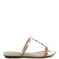 Flat Sandals Cristal Line Light Wood | Schutz