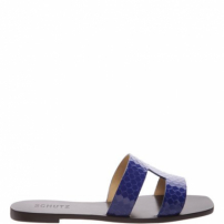 Flat Slide Croco Blue | Schutz