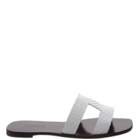 Flat Slide Croco White | Schutz