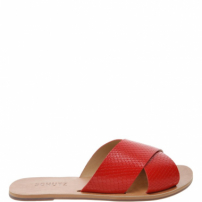 Flat Slide Cross Snake Red | Schutz