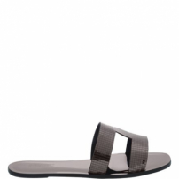 Flat Slide Glam Metallic | Schutz