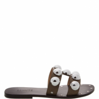 Flat Slide Metallic Balls Black | Schutz