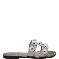 Flat Slide Metallic Balls White | Schutz