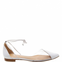 Flat Vinil Lace Up White | Schutz