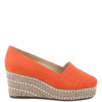 Flatform Espadrille Mini Crystals Nice Orange | Schutz