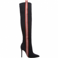 Giordana Bota Over The Knee Side Stripe Black | Schutz