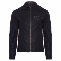 Jaqueta Masculina Leather Ace New Rider Quilted - Preto