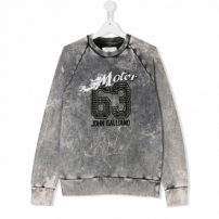 John Galliano Kids Moletom Com Logo - Cinza