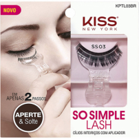 Kiss New York Cílios Postiços Inteiriços Com Aplicador So Simple Lash 03