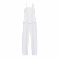 Macacão Bata Midi Off White Luiza Botto