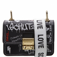 Mini Crossbody Live Love Graphite | Schutz
