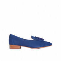 Mocassim Feminino Tassel Dress - Azul