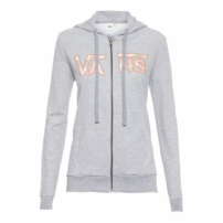 Moletom Poppy Dream Zip Hoodie Vans - Cinza