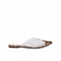 Mule Vinil Leopardo - Animal Print