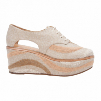 Oxford Flatform Rustic Embroidery - Bege