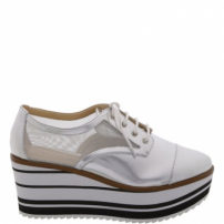Oxford Flatform Strip Silver | Schutz