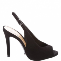 Peep Toe High Vamp Nobuck Black | Schutz