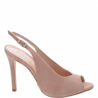 Peep Toe High Vamp Nobuck Neutral | Schutz
