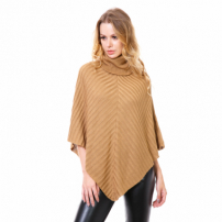 Poncho Beautifull Hit Canelado Camel