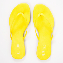 Rasteira Fresh Summer Napa Amarelo Tropical