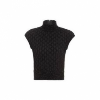 Regata Cropped Tricot Shine Coven - Preto