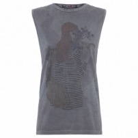 Regata Feminina Tee Lovely Stories - Cinza