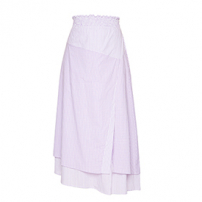 Saia Midi Fenda Mix Lilac Framed