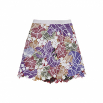 Saia Mini Patch Flores Lucas Barros