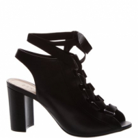 Sandal Boot Block Heel Lace-Up Black | Schutz