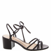 Sandália Block Heel Strings Black | Schutz