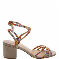 Sandália Block Heel Strings Multicolor | Schutz