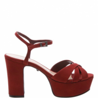 Sandália Carrie Block Heel Red | Schutz