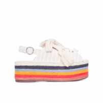 Sandália Feminina Flatform Natural - Off White