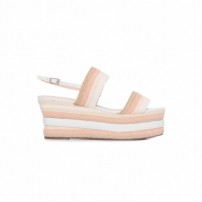 Sandália Flatform Braid Natural - Bege