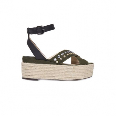 Sandália Flatform Canvas Animale - Verde