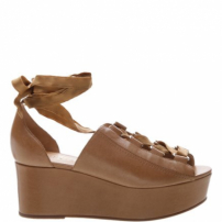 Sandália Flatform Leather Natural | Schutz