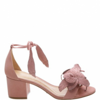 Sandália Flower Block Heel Poppy Rose | Schutz