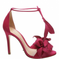 Sandália Flower Lace Up Bright Rose | Schutz