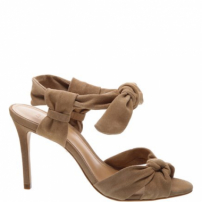 Sandália Lace-Up Nobuck Neutral | Schutz