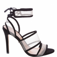 Sandália Lace-Up Tela Black | Schutz