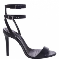 Sandália Minimal Double Belt Black | Schutz