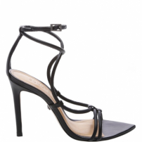 Sandália Salto Strings Black | Schutz