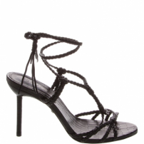 Sandália Salto Strings Lace-Up Black | Schutz