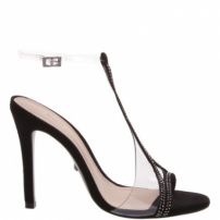 Sandália Transparente High Heel Black | Schutz