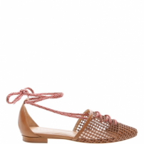 Sapatilha Lace-Up Bico Fino Natural | Schutz