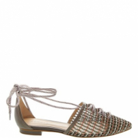Sapatilha Lace-Up Bico Fino Neutral | Schutz